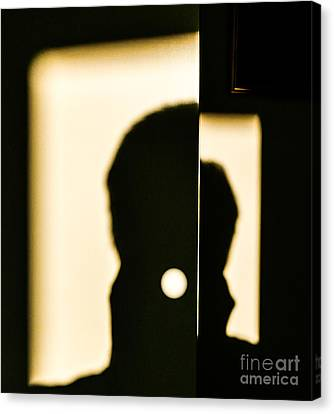 Door Shadows Canvas Print by Thomas Carroll