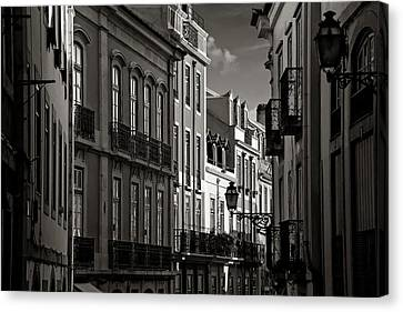 Shadowy Old Lisbon Canvas Print