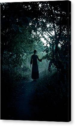 Witch Canvas Print - Shadowy Path by Cambion Art