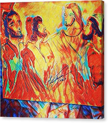 Canvas Print - Shadrach, Meshach And Abednego In The Fire With Jesus by Love Art Wonders By God