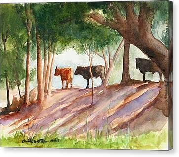 Shady Beef Canvas Print