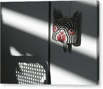 Canvas Print featuring the photograph Shady Cat by Erik Falkensteen