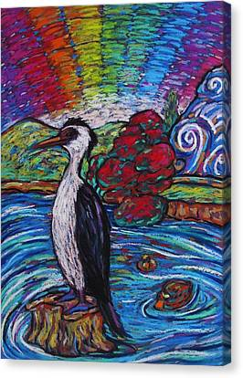 Shag On A Rock Canvas Print