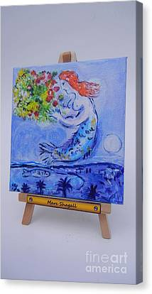 Chagall's Mermaid Canvas Print