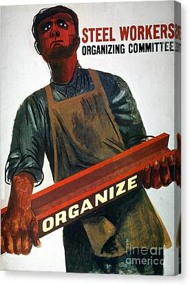 Worker Canvas Print - Shahn: Steel Union Poster by Granger