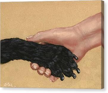 Shake Hands  Canvas Print