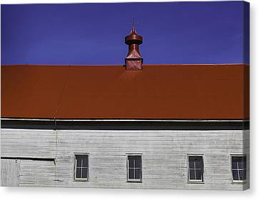 Red Roof Canvas Print - Shaker Building by Garry Gay