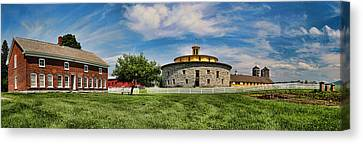 Shaker Pastoral Panorama Canvas Print by Stephen Stookey