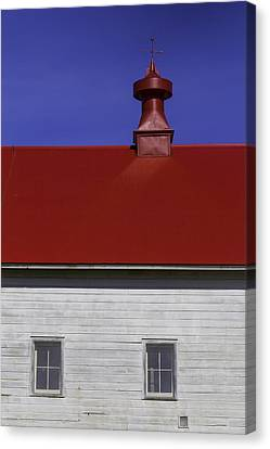 Shaker Red Roof Canvas Print