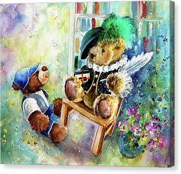 Shakesbear And Truffle Mcfurry Canvas Print