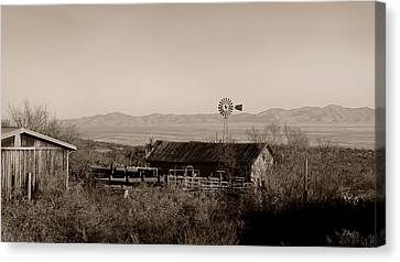 Shakespear Canvas Print - Shakespeare Ghost Town by Gordon Beck