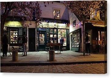Canvas Print featuring the photograph Shakespeare Book Shop 1 by Andrew Fare