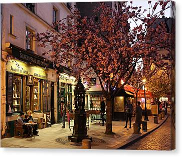 Canvas Print featuring the photograph Shakespeare Book Shop 2 by Andrew Fare