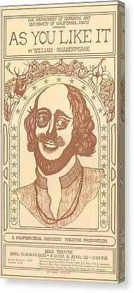 Uc Davis Canvas Print - Shakespeare by Jeff Quiros
