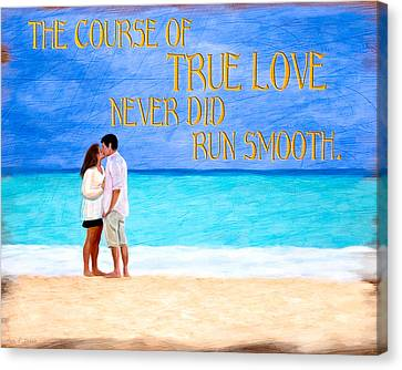 Shakespear Canvas Print - Shakespeare On True Love by Mark E Tisdale