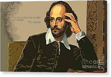 Shakespeare Quote Two Canvas Print