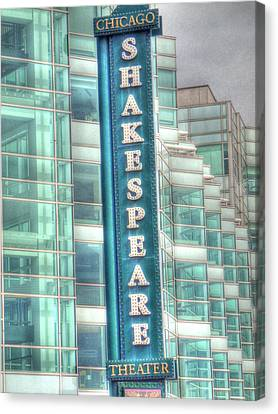 Shakespeare Theater Canvas Print by Barry R Jones Jr