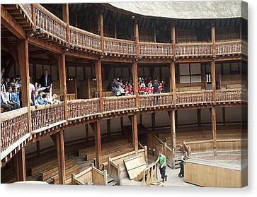 Shakespeare's Globe Theater C378 Canvas Print by Charles  Ridgway