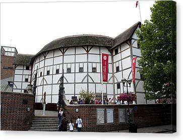 Shakespeare's Globe Theater Canvas Print by Charles  Ridgway