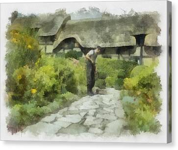 Shakespeares Home In Wwii Canvas Print