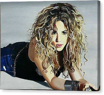 Shakira  Canvas Print by Gitanjali  Sood