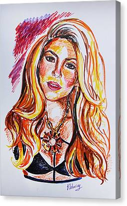 Shakira Canvas Print by Viktoriya Lavtsevich
