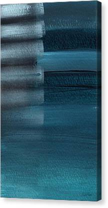 Shallow- Abstract Art By Linda Woods Canvas Print by Linda Woods