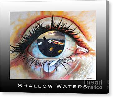 Shallow Waters  Canvas Print by Linda Weinstock