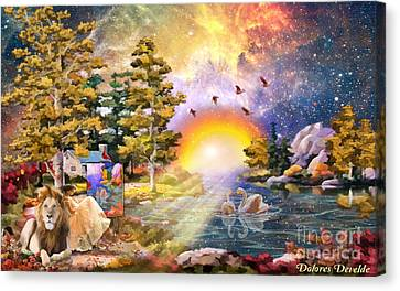 Shalom Canvas Print by Dolores Develde