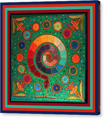 Shaman Serpent Ritual Canvas Print by Vagabond Folk Art - Virginia Vivier