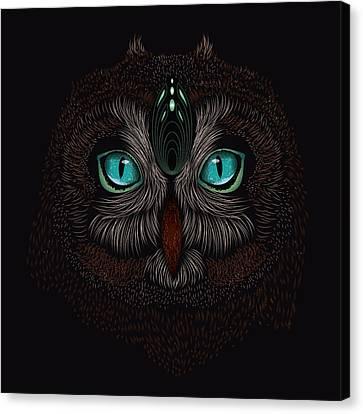 Shaman Spirit Owl Canvas Print