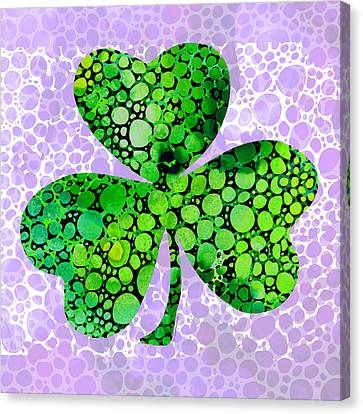 Shamrock Art By Sharon Cummings Canvas Print