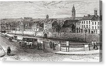 Cork Canvas Print - Shandon By The River Lee, County Cork by Vintage Design Pics