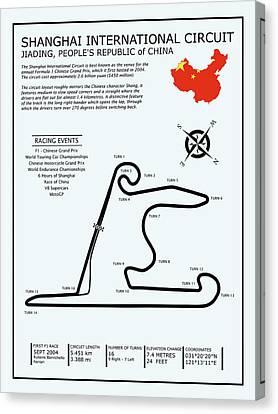 Shanghai Circuit Canvas Print