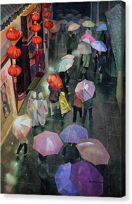 Shanghai Shoppers Canvas Print