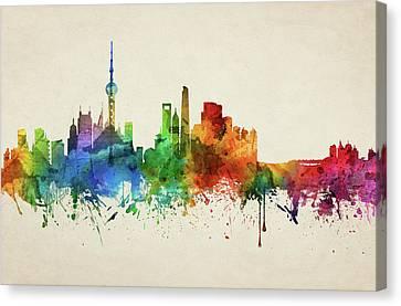 Shanghai Skyline Chsh05 Canvas Print