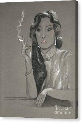 Shanghai Triad -- Portrait Of Chinese Film Star Canvas Print