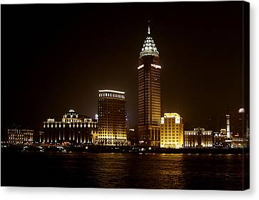 Shanghai's Bund Is Back To Its Best Canvas Print by Christine Till
