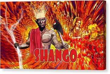 Shango Canvas Print by Edelberto Cabrera