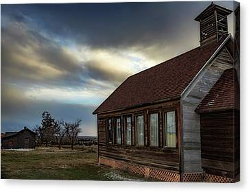 Canvas Print featuring the photograph Shaniko Schoolhouse by Cat Connor