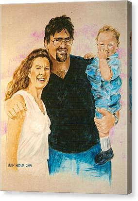 Shannon Carrie And Tommy Canvas Print
