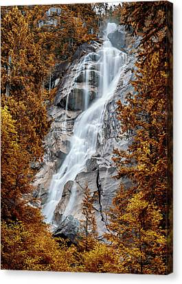 Howe Canvas Print - Shannon Falls - Indian Summer by Stephen Stookey