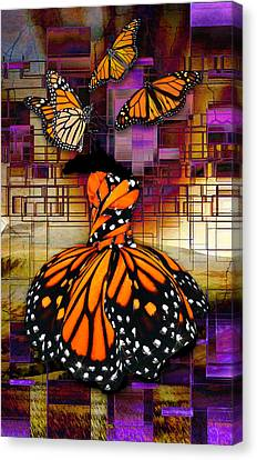 Canvas Print featuring the mixed media Shape Shifting by Marvin Blaine