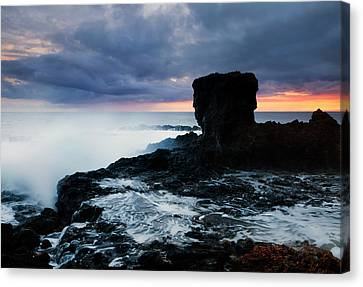 Shaped By The Waves Canvas Print by Mike  Dawson