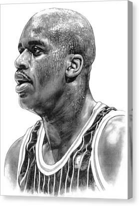 Shaq O'neal Canvas Print by Harry West