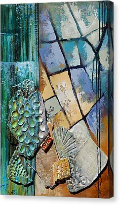Shards Water Clay And Fire Canvas Print by Suzanne McKee