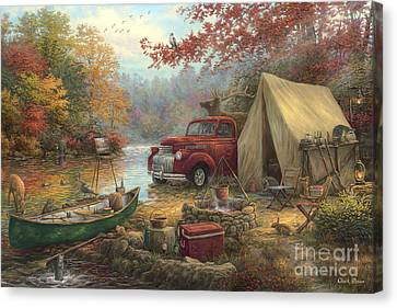 Share The Outdoors Canvas Print by Chuck Pinson