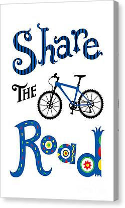 Share The Road Canvas Print by Andi Bird
