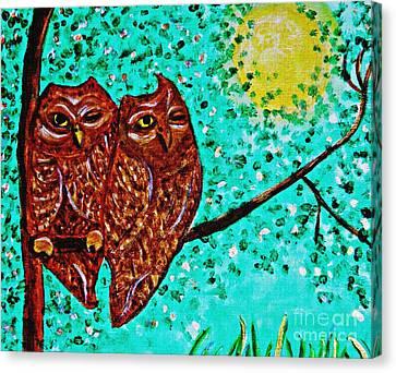 Shared Moonlight Detail Canvas Print by Sarah Loft