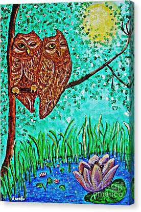 Shared Moonlight Canvas Print by Sarah Loft